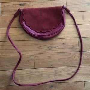 American Eagle Burgundy Crossbody Bag
